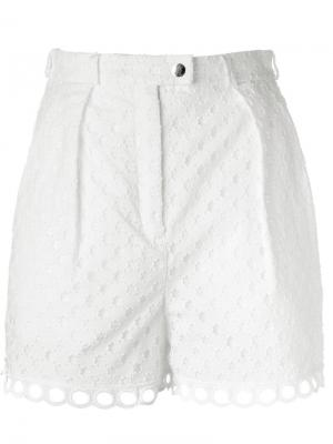 Ажурные шорты Carven. Цвет: белый