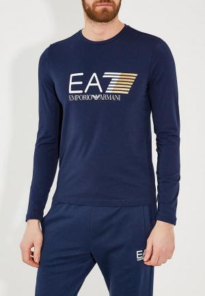 Лонгслив EA7. Цвет: синий