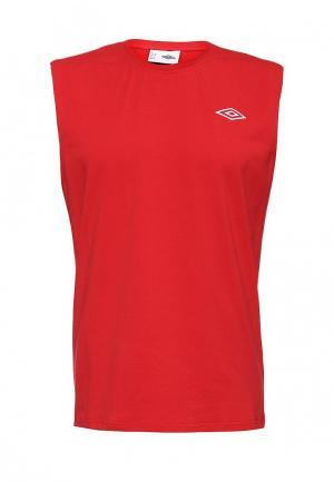 Майка спортивная Umbro. Цвет: красный