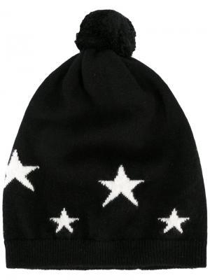 Шапка со звездами Chinti And Parker. Цвет: чёрный