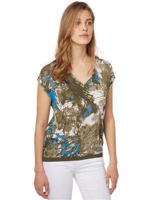Блузка TOM TAILOR. Цвет: зеленый, оливковый