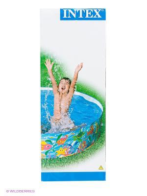 Надувной каркасный бассейн Intex. Цвет: голубой