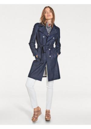 Джинсовое пальто Rick Cardona. Цвет: синий деним