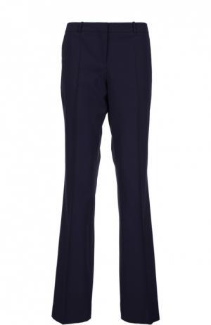 Расклешенные брюки со стрелками BOSS. Цвет: темно-синий