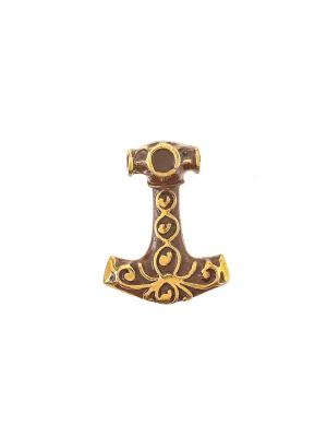 Амулет защитный Молот Тора Aztek. Цвет: желтый