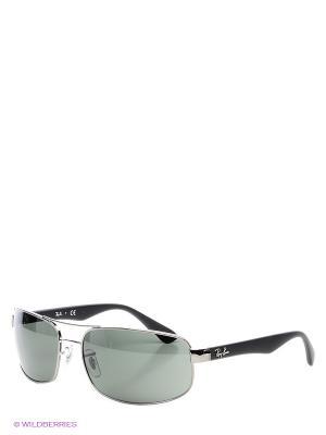 Очки солнцезащитные Ray Ban. Цвет: темно-серый