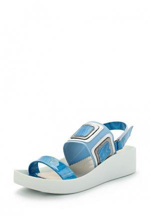 Босоножки Ascalini. Цвет: голубой