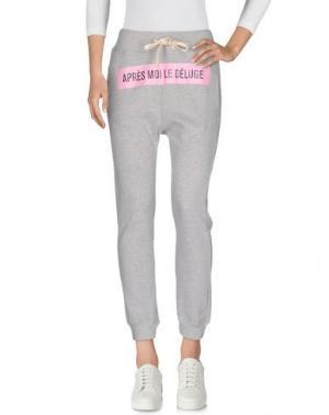 Повседневные брюки THINGS ON EARTH. Цвет: серый