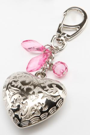 Брелок СЕРДЦЕ Glam. Цвет: розовый