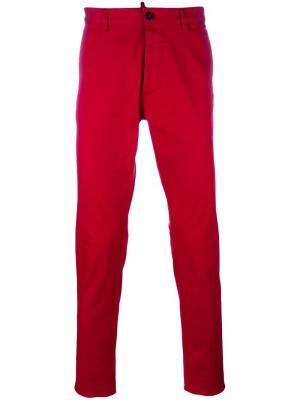 Узкие брюки-чинос Dsquared2. Цвет: красный