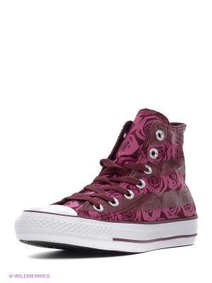 Кеды Converse. Цвет: бордовый