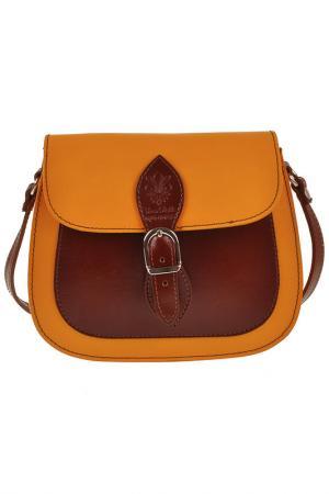 Сумка FLORENCE BAGS. Цвет: yellow, brown