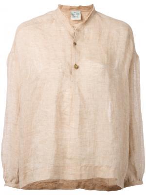 Блузка с планкой спереди Forte. Цвет: многоцветный