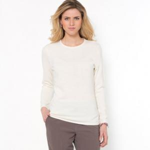 Пуловер с отделкой бисером ANNE WEYBURN. Цвет: каштановый,кирпичный,экрю