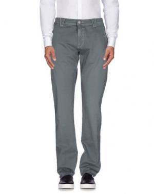Повседневные брюки 9.2 BY CARLO CHIONNA. Цвет: свинцово-серый