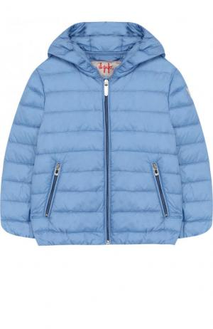 Пуховая куртка с капюшоном Il Gufo. Цвет: синий