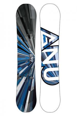 Сноуборд  Asym Carbon Credit Btx GNU. Цвет: белый,черный