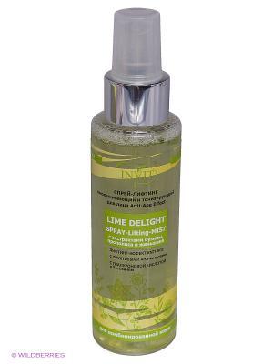 Спрей-лифтинг Lime Delight омолаживающий и тонизирующий для комбинированной кожи INVIT. Цвет: салатовый