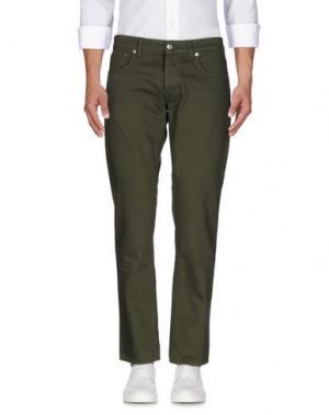 Джинсовые брюки DEPARTMENT 5. Цвет: зеленый-милитари
