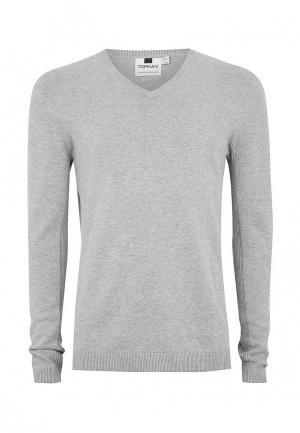 Пуловер Topman. Цвет: серый