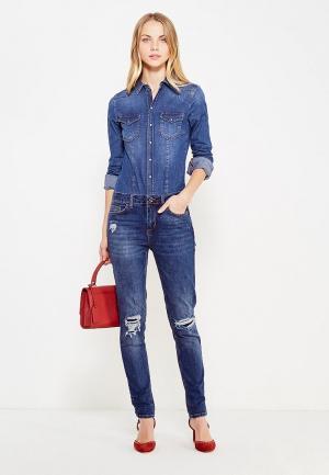 Комбинезон джинсовый Liu Jo Jeans. Цвет: синий