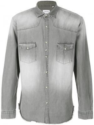 Джинсовая рубашка Costumein. Цвет: серый