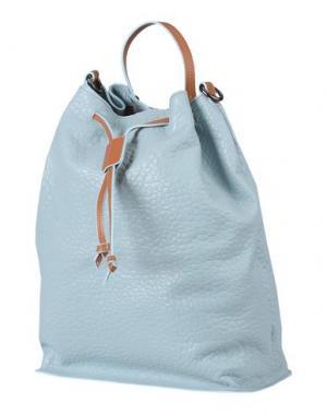 Рюкзаки и сумки на пояс LOMBARDI. Цвет: небесно-голубой