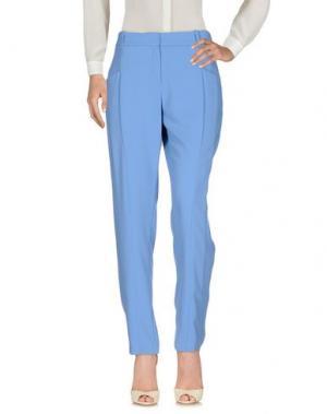 Повседневные брюки BIANCOGHIACCIO. Цвет: пастельно-синий