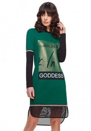 Платье Devita. Цвет: зеленый