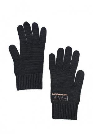 Перчатки EA7. Цвет: черный