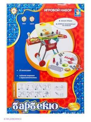 Детский игровой набор Столик для барбекю 1Toy. Цвет: красный