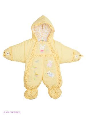 Комбинезон утеплённый Kidly. Цвет: светло-желтый