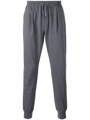 Спортивные брюки с присборенными манжетами Eleventy. Цвет: серый
