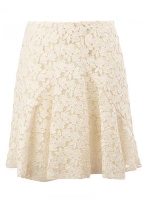 Кружевная юбка со складками Giambattista Valli. Цвет: белый