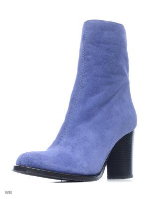 Полусапожки La Gatta. Цвет: голубой