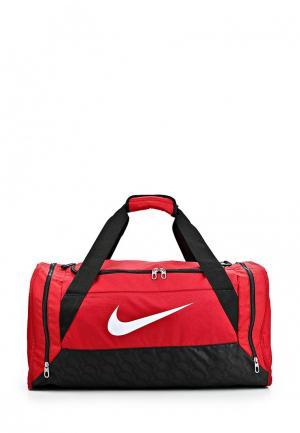 Сумка спортивная Nike. Цвет: красный