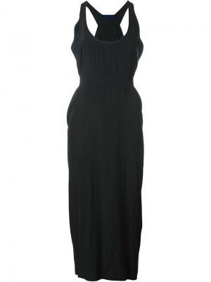Платье миди свободного кроя Demoo Parkchoonmoo. Цвет: чёрный
