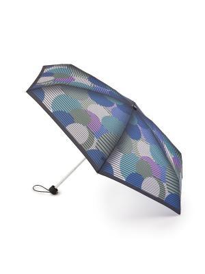 Зонт женский механика Henry Backer Большой горох. Цвет: синий