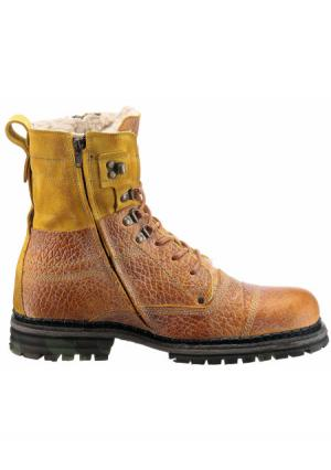 Высокие ботинки Yellow Cab. Цвет: кораллово-красный, хаки/бежевый