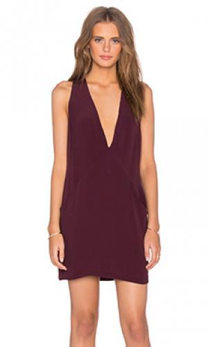 Платье leah Backstage. Цвет: красное вино