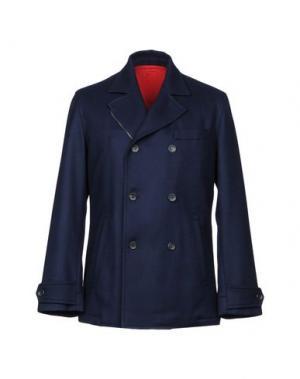Пальто DUNHILL. Цвет: темно-синий