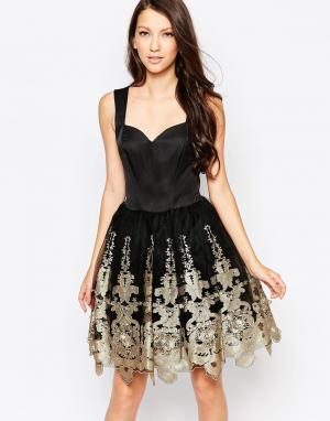 Key Collections Платье для выпускного с пышной юбкой Ashley Roberts for Collection. Цвет: черный
