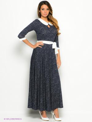 Платье La Via Estelar. Цвет: темно-синий