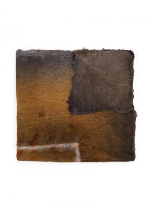Шарф с необработанными краями Avant Toi. Цвет: коричневый