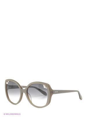 Солнцезащитные очки MO 726S 03 MOSCHINO. Цвет: бежевый
