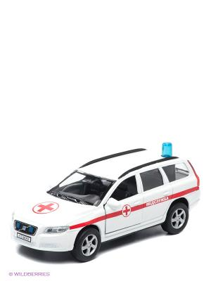 Машина Volvo V70 Медслужба Пламенный мотор. Цвет: белый