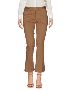 Повседневные брюки FABRIZIO LENZI. Цвет: верблюжий