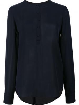 Блузка с длинными рукавами Veronica Beard. Цвет: синий