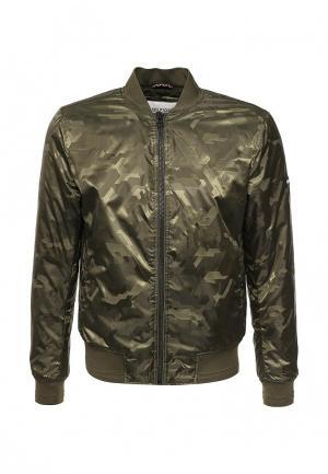 Куртка утепленная Tommy Hilfiger Denim. Цвет: хаки