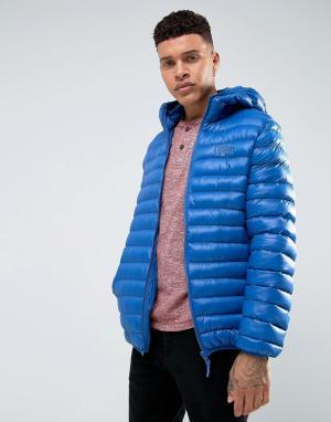 Tokyo Laundry Дутая куртка с капюшоном. Цвет: синий